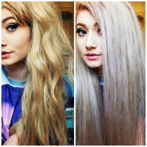 Toned Hair how to tone your hair silver