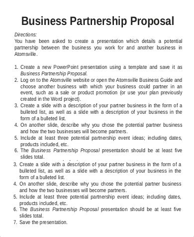 business proposal sample  examples  word