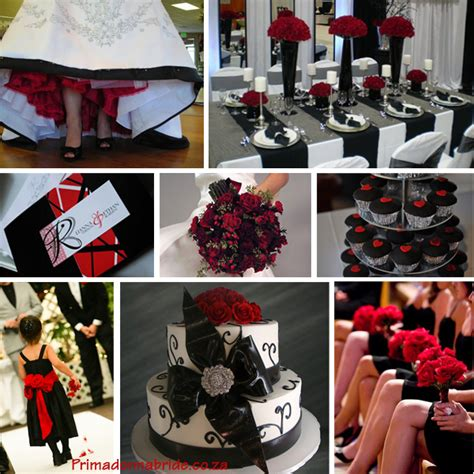 wedding colours red and black primadonna bride