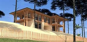 Construction Maison En Pierre : construction d 39 une maison bois et pierre au golf de ~ Melissatoandfro.com Idées de Décoration