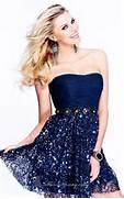 Sherri-Hill-Homecoming...Cute Midnight Blue Prom Dresses