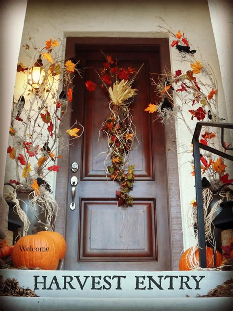 fall entryway decor focal point styling the diy behind creating a dramatic fall entry stoop for 50