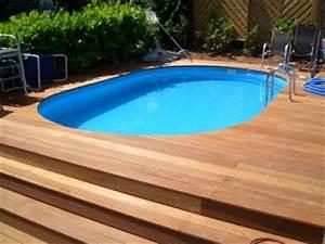 Pool Mit Holz : poolumrandung mit holz bauen ~ Orissabook.com Haus und Dekorationen