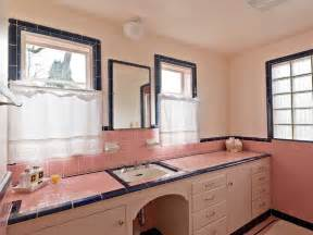 black and pink bathroom ideas five vintage pastel bathrooms in this lovely 1942 capsule house portland oregon 13 photos