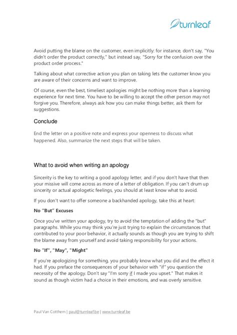 10 Tips for Writing a Corporate Apology Letter | apology