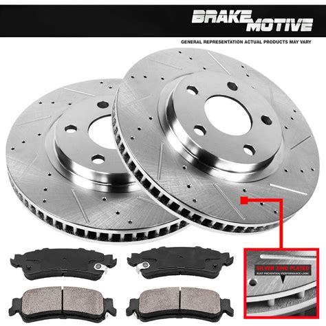 front drilled slotted brake rotors ceramic pads jeep