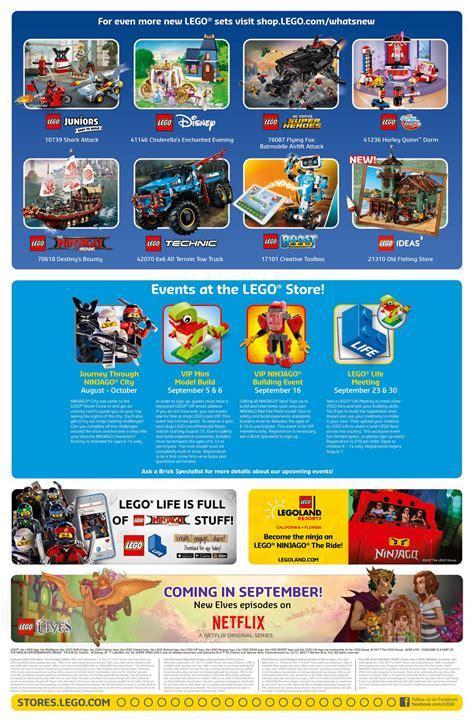 il calendario lego store usa settembre 2017 le promozioni e gli eventi mattonito