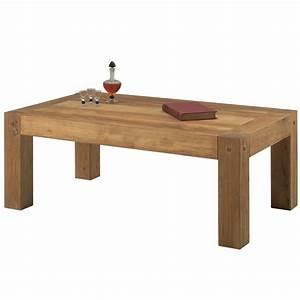 Table Salon Scandinave : table basse rectangulaire en bois brute pour salon cosy ~ Teatrodelosmanantiales.com Idées de Décoration