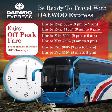 daewoo drops bus ticket prices