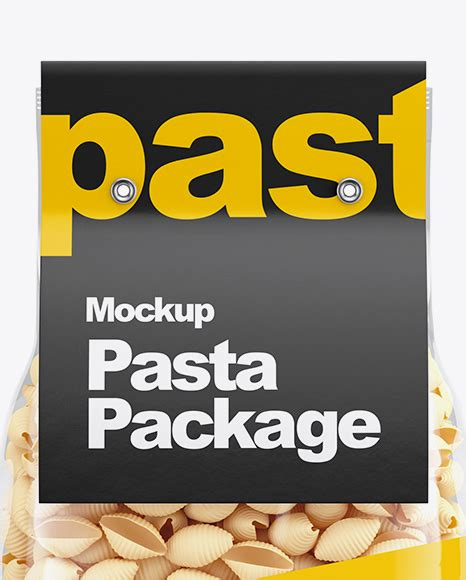 The bag content is not editable. Plastic Bag With Conchiglie Pasta Mockup - Download PSD ...