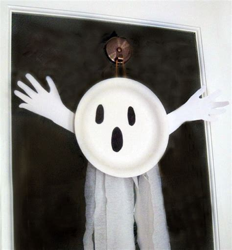 paper plate ghost easy crafts for 2636
