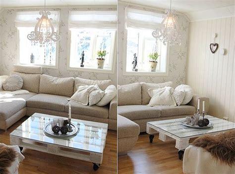 canapé futon ikea mesa de sala con palés reciclados