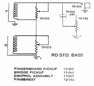 Gibson Rd Standard Bass Guitar Circuit Schematic