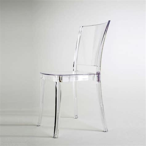 chaises polycarbonate chaise transparente en polycarbonate lucienne neutre