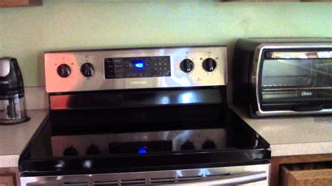 samsung fe  electric range convection oven youtube