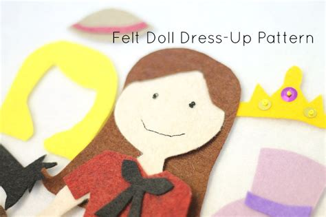 Felt Dress Up Doll Template by Felt Doll Dress Up Pattern Do Small Things With Great