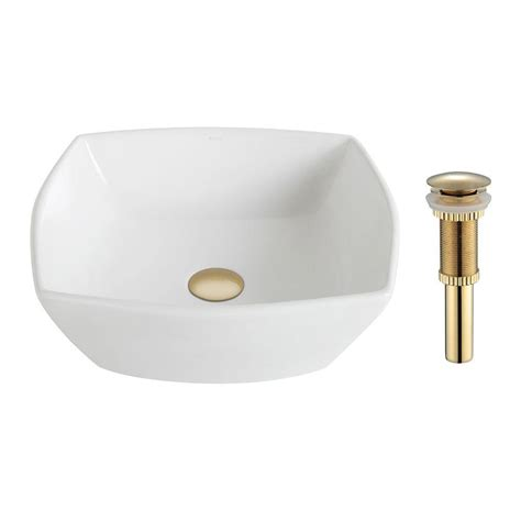 home depot vessel sinks kraus rectangular ceramic vessel bathroom sink in white