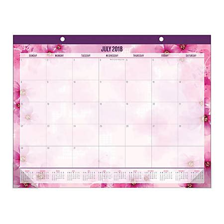 Office Depot Hours On July 4 by Office Depot Brand Large Monthly Academic Desk Pad