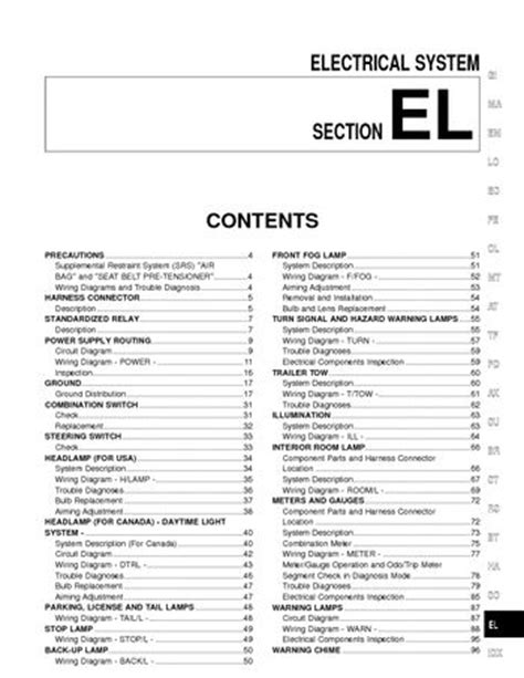 Download 2000 Nissan Xterra - Electrical System (Section