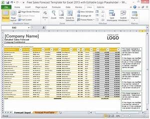 yearly sales forecast template - free sales forecast template for excel 2013 with editable logo