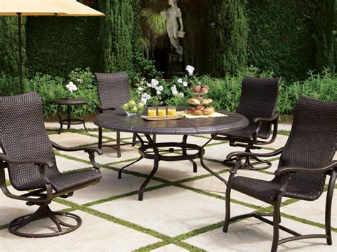 ravello woven sling dining chairs outdoor furniture