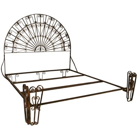 Antique Wrought Iron King Headboard by Antique Wrought Iron Palladium King Size Bed At 1stdibs