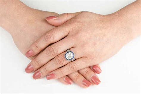 which ring goes the finger first estate diamond jewelry