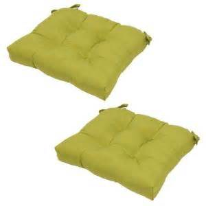 home depot green bay hampton bay green solid tufted outdoor seat cushion 2