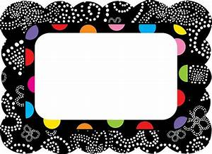 polka dot label templates free colorful bw name tags With colorful labels templates