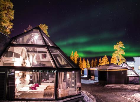 santas hotel aurora glass igloos discovering finland