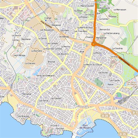 meilleur site cuisine plan royan carte ville royan