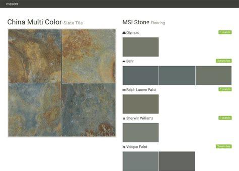 china multi color slate tile flooring msi