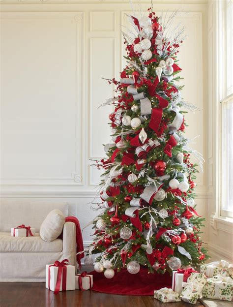 red white  sparkle christmas tree christmas tree