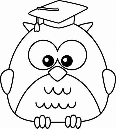 Owl Coloring Graduate Clipart Colorir Desenhos Corujas