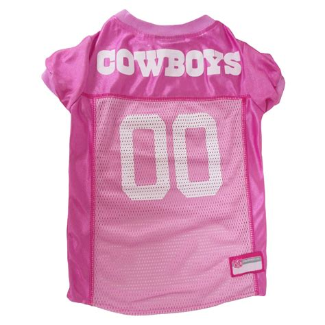 Pets First Dallas Cowboys NFL Pink Mesh Jersey Petco