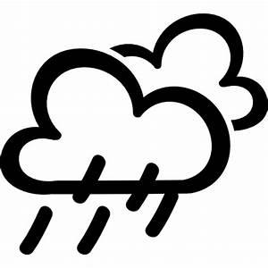 Rain weather hand drawn symbol - Free weather icons