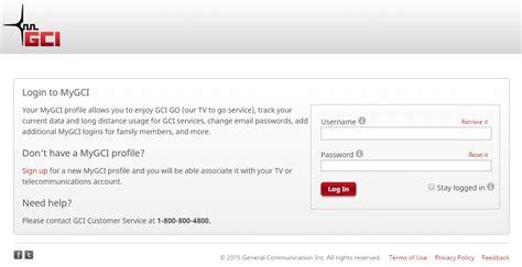 gci phone number sign up for a mygci profile