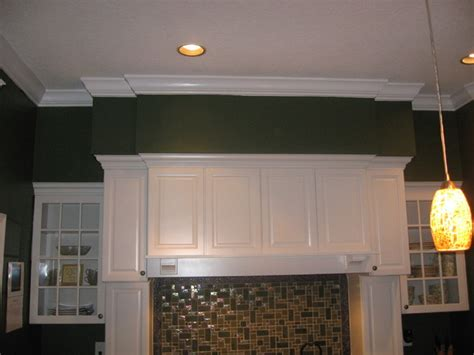 crown moulding soffit traditional kitchen ta