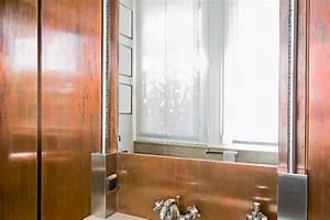 Accessoire Salle De Bain Cuivre : copper walls in the bathroom des murs en cuivre dans la salle de bain copper cuivre ~ Melissatoandfro.com Idées de Décoration