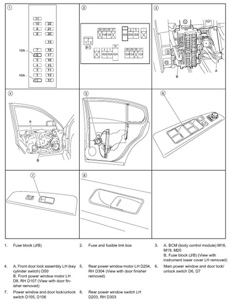 Window Wiring Harnes Diagram For 2003 Nissan Altima by My Electric Window Fell The Track And Is Inside The