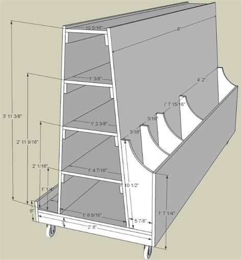 lumber storage cart woodworking projects plans