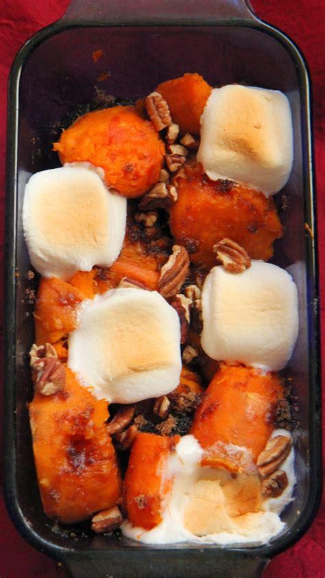 holiday recipe traditional sweet potato  marshmallows