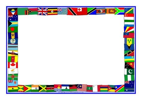 commonwealth flags  page borders sb sparklebox
