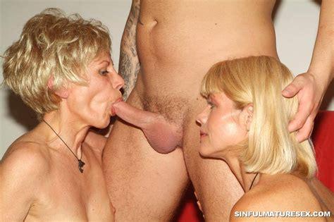 blonde grannies sucking hard into threesome 2719
