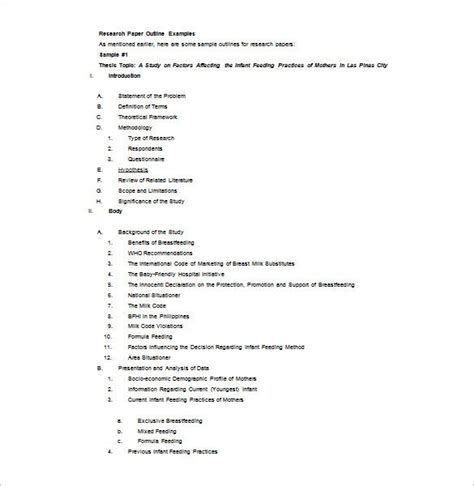 Free essays, research papers, term papers, and other writings on literature, science, history, politics, and more. 8+ Research Outline Templates - PDF, DOC   Free & Premium ...