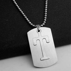 mens personalized stainless steel initial large 26 a z With mens letter pendant
