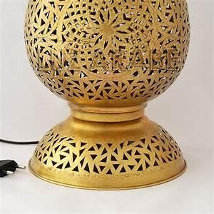 Lampe à Poser Cuivre : grande lampe poser marocain en cuivre ajour en forme de ~ Dailycaller-alerts.com Idées de Décoration
