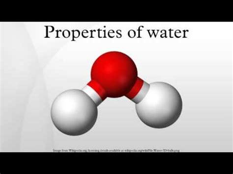 Properties Of Water Youtube