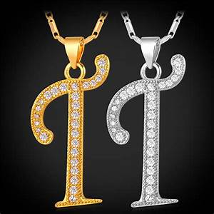 online get cheap letter t necklace aliexpresscom With letter necklace cheap