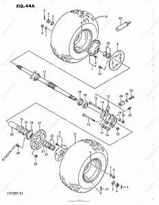 Suzuki Atv 1987 Oem Parts Diagram For Rear Wheel  Model J